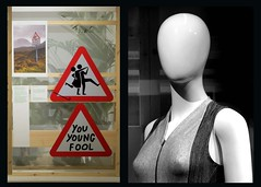 The Design Musum, Kensington - Jan 2017 (23) (Padski1945) Tags: thedesignmuseum kensingtonhighstreet kensington londonw86ag londonmuseums londonscenes museumsoflondon museumsofgreatbritain museumsofbritain museumsofengland signs mannequin shopdummy diptych