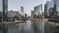 Chicago River Day to Night with music (Michael.Lee.Pics.NYC) Tags: chicago video timelapse chicagoriver wolfpoint daytonight boats motion architecture cityscape skyline sony a7rm2 voigtlanderheliar15mmf45