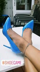 #shoegame (Natassia Crystal) Tags: shoegame blue heels blueheels highheels stilettoheels instagram stories tg tv cd stevemadden maddengirl