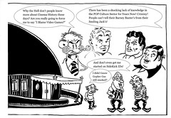 Creepin It Reel 0009- Film Critics Snobcast 6896 (Brechtbug) Tags: creepin it reel film critics trio willy b tim ed skylar a brecht newspaper cartoon without paper brown derby restaurant comic comics theater theaters theatre movie movies films new york city brechtbug gadfly nyc 2018 prof willard bartholomew timothy edmondson comix cartoons the time traveling creep timid critic barnacle twin presents introduction intro eat hat fat stuff smiling jack smilin barney baxter gopher gus airplane pilot pilots aviation