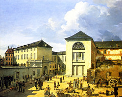 Achenbach, Andreas (1815-1910) - 1831 The Old Academy in Dusseldorf (Private Collection) (skaradogan) Tags: andreasachenbach achenbach painter 19thcentury german 1831 1830s theoldacademyindusseldorf privatecollection realism architectecture streetscene street buildings houses