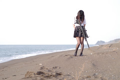 放課後JKG (KokuuDD) Tags: schoolgirl gun seaside