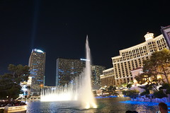 Bellagio Fountains at night, Las Vegas, Nevada