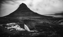 Kirkjufel, Iceland (Syed Ali Warda) Tags: artistic amazing arts black white canon art iceland dramatic dark darkclouds drama excellent exposure exciting explore explored exposed flickr greatphotographers interesting impressive landscape landscapes outdoor observing outside overcast picture panaromic photo syedaliwarda sky mountain ocean water waterfalls rock waterfall grass kirkjufell moutain west