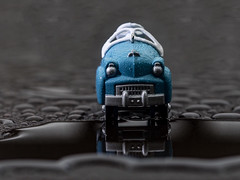 Little Truck (nicklaborde) Tags: 500px blue old vintage water wet rain toy panasonic lumix gx8