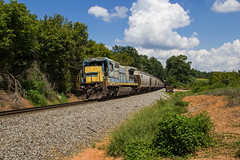 NS 51Q at Dallas (travisnewman100) Tags: norfolk southern train railroad freight unit grain 51q rr gecx leaser ge c408 dallas georgia division atlanta north district yn2 locomotive