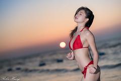 DSC_9805 (Robin Huang 35) Tags: 林珈伊 femi 01 泳裝 比基尼 bikini 海邊 海灘 沙灘 海邊壓光 壓光 beach 人像 portrait lady girl nikon d850