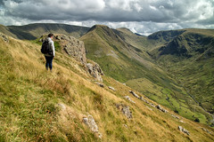 We're going down there? (Tall Guy) Tags: tallguy uk unescoworldheritagesite ldnp lakedistrict cumbria brockcrags