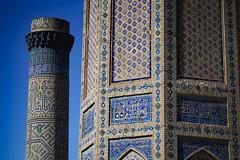 A Minaret At Bibi-Khanym Mosque, Samarkand (El-Branden Brazil) Tags: bibikhanymmosque madrassa samarkand uzbekistan asia centralasia islam mosque sacred holy