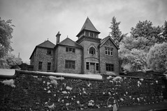Masonic Lodge (Infrakrasnyy) Tags: infrared bw 093 deep black white colorless monochrome sony nex 5n full spectrum ireland erie irish sligo masonic lodge