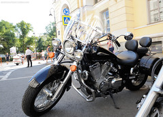 Black Shadow (dmitrytsaritsyn) Tags: afsnikkor2470mm128ged photography stpetersburg motorcyclephotography d3s nikon motorcycles outdoor harleydays honda shadow black vpower