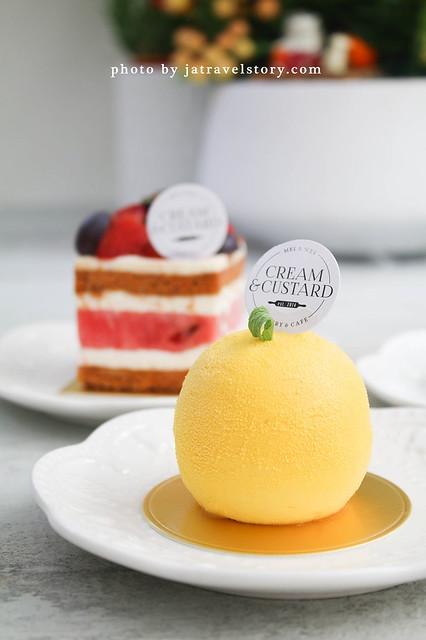 新開幕新加坡來的Cream&Custard 清新爽口甜點與白色系環境令人印象深刻!【捷運市政府】 @J&A的旅行