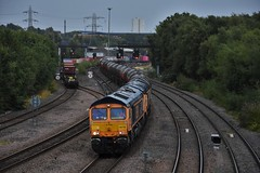 66753/66775 (Lewis_Hurley) Tags: saltleyviaduct oil gbrailfreight gbrf emd diesel freight train railway england uk birmingham saltley 6e45 f231 hmsargyll emdrobertsroad shed class66 66775 66753 66