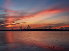 Dawn across the Indian River (Ed Rosack) Tags: gatorcreekroad usa landscape calm water hires ©edrosack panorama florida olympus highres sunrays river cloud reflection centralflorida sky waterscape dawn merrittislandnationalwildliferefuge sunrise cloudscape cloudy minwr titusville