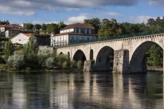 Ponte da Barca (Paulo Calafate) Tags: canon5dmarkiv canonef70200mmf28lisiiusm pontedabarca portugal bridge river riolima landscape reflection water