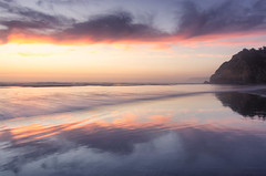 With Open Arms (gwendolyn.allsop) Tags: sunset coast oregon hug point pacific ocean west clouds color sand water waves