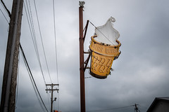 Ice Cream Heaven (Phil Roeder) Tags: iowacity iowa dairyqueen icecream icecreamcone sign leica leicax2