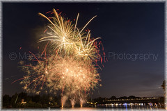"""Festival di Fuochi d'Artificio 2018 (""""Max Deca"""") Tags: fireworks river summer party travel tourism landscape bridge boat holiday vacations sestocalende sky happyhour environment place location panorama colors citylights ticino maggiorelake high stars contrast blue yellow longtimeexposure lombardy piedmont italy varese"""