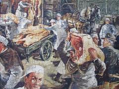 Smithfield Market [detail] (pefkosmad) Tags: jigsaw puzzle hobby pastime leisure vintage cardboard goodwin famouslondonscenes thebigjig secondhand complete smithfieldmarket meatmarket wholesale scene