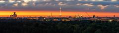 Berlin Sunrise Skyline (FH | Photography) Tags: berlin panorama sonnenaufgang sunrise dawn stadt hauptstadt horizont fernsehturm funkturm wahrzeichen drachenberg teufelsberg charlottenburg gebäude architektur türme sehenswürdigkeit tourismus grunewald weitsicht morgens city messe deutschland europa wolken stadtleben kran baustelle skyscraper hochhäuser skyline