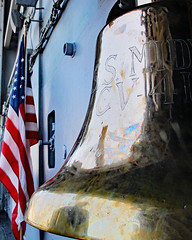 Boarding The USS Midway (Kabbri) Tags: ussmidway museum usa military flag navy symbol sandiego usnavy carrier bell