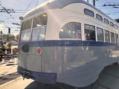 Vintage Trolley- MUNI F line, Castro, San Francisco (Lynn Friedman) Tags: transportation muni trolley vintage castrodistrict sanfrancisco 94114