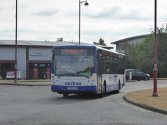 Notts & Derby 762 YN08 CWU on Rail Replacement, Pride Parkway, Derby (sambuses) Tags: 762 unibus nottsderby yn08cwu railreplacement