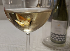 Wine.AlVoltRivaDelGardaIT073118.201718-01edit (jrm_rr) Tags: wine gavi cortese glass wineglass bottle winebottle alvolt rivadelgarda italy riva restaurant white bianco vino piedmont grape varietal