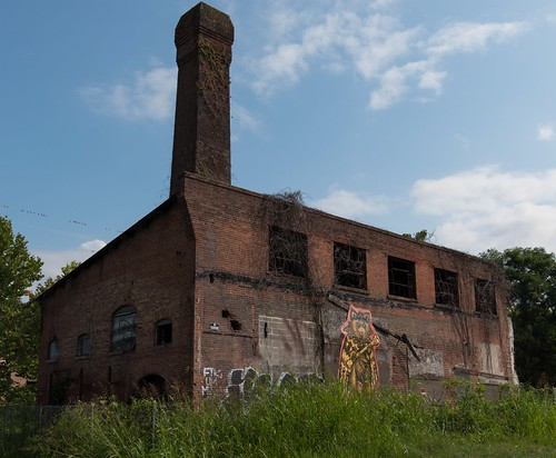 Abandoned building in Asheville North Carolina at the River Arts District