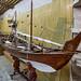 Large model of a wooden boat, found in model ship builders shop, Heritage Village, Abu Dhabi