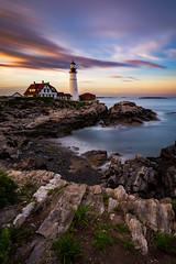 Portland Head Lighthouse Sunset (Dino Sokocevic) Tags: maine newengland ocean atlantic nikon tamron tamronusa longexposure longexpo nature landscapes landscape water flow waves