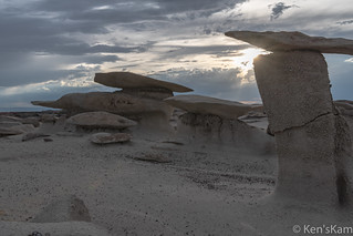Sunrays at Bisti