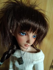 New wig for Maxellende (luxatica) Tags: minifee fairyland mnf bjd doll karsh mnfkarsh minifeekarsh tanskin aline alinebody activeline