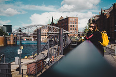 Hamburg (LucasRebmannPhotography) Tags: hamburg germany clouds wolken deutschland fujifilm xt20 x t 20 2018 street city trees cars autos building haus häuser strase shadow schatten phone architecture water sky himmel blue blau rain summer sommer light 23mm 14 f14 lens xf23mmf14 r lamp bridge church churchtower kirche opera river bokeh reflection iso 200 portrait day sun