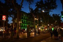 Gairebé un any després, la vida segueix a la Rambla... (pescarolo041) Tags: barcelona city nigth larambla bluehour tokina1120 nikond7200 catalonia catalunya street carrer nikon tokina ciutat