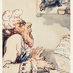The caricature of an Italian Composer in England by Thomas Rowlandson (1756-1827), a comical caricature of a man playing piano and singing terribly while the parrot sings in the window. Original from Library of Congress. Digitally enhanced by rawpixel. thumbnail