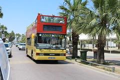 Larnaca sightseeing. (steve vallance coach and bus) Tags: tkwe384 k703bbl dafdb250 optarespectra readingbuses lovebuses larnaca cyprus opentop sightseeingtour