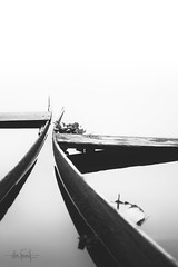 Immersed souls (RuiFAFerreira) Tags: bw black boat white canon conceptual exterior landscape mood nature portugal