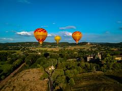 Ballooning over the Dordogne. (TrevKerr) Tags: dordogne france dji djispark drone aerial balloons ballooning countryside