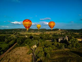Ballooning over the Dordogne.