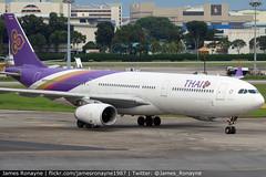 HS-TBC   Airbus A330-343   Thai Airways International (james.ronayne) Tags: hstbc airbus a330343 thai airways international aeroplane airplane plane aircraft jet jetliner airliner aviation flight flying singapore changi sin wsss canon 80d 100400mm raw