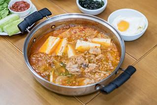 Kimchi Stew with tuna.