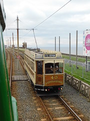 Blackpool Tramway: Box 40 near Cabin/Bispham (12/08/2018) (David Hennessey) Tags: blackpool tramway box 40 single deck car cabin bispham