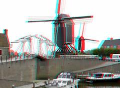 Heusden 3D (wim hoppenbrouwers) Tags: heusden 3d anaglyph stereo redcyan noordbrabant harbour haven