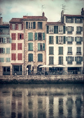 The old Bayonne (Ro Cafe) Tags: bayonne town river old reflections winter facades cityscape france painterly textured nikkor2470f28 nikond600