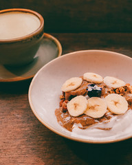 Banana Acai Bowl (ella.o) Tags: acai bowl smoothie eat breakfast dessert banana almondbutter