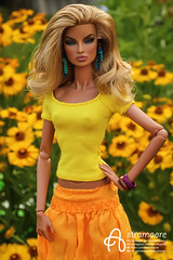 Eugenia (astramaore) Tags: astramaore going public yellow chic beauty glamour glam style flowers flowering summer skirt blueeyes doll dollphotography integritytoys fashion fashionroyalty fashiondoll