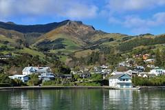 Akaroa Harbour (Steve Attwood) Tags: auldwoodphotography steveattwood newzealand canterbury bankspeninsula landscape sea ocean harbour coast mountain seaside akaroa akaroaharbour