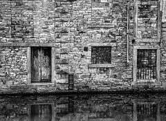 Old Canalside Warehouse (PangolinOne) Tags: architecture bw blackwhite blackandwhite blackburn canal canonef24105mmf4lisusm canoneos6d decay england lancashire leedsandliverpoolcanal outdoors places uk urban water unitedkingdom gb ef24105mmf4lisusm