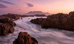 Table Mountain Wave Channel (Panorama Paul) Tags: paulbruinsphotography wwwpaulbruinscoza southafrica westerncape capetown tablemountain blaauwbergbeach sunset mountain rocks clouds nikond800 nikkorlenses nikfilters